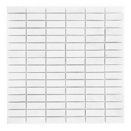 DUNIN B&W Black & White mozaika kamienna Pure White Block 48