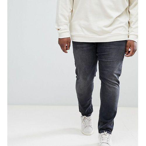 River Island Big & Tall skinny jeans in black wash - Black, skinny