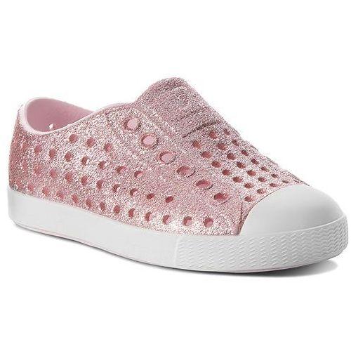 Trampki NATIVE - Jefferson Bling 13100112-6805 Milk Pink Bling/Shell White, kolor różowy