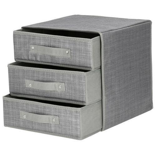 Organizer do szuflady na bieliznę zestaw 4 szt. szary (5907719405384)