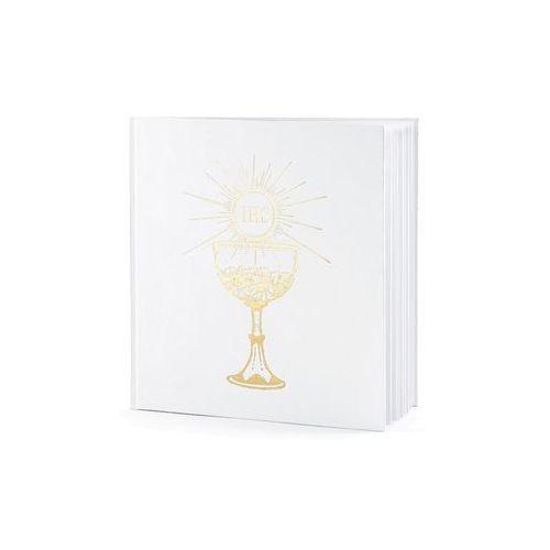 Księga gości na komunię z kielichem - biała - 25 kartek - 1 szt. (5901157444462)