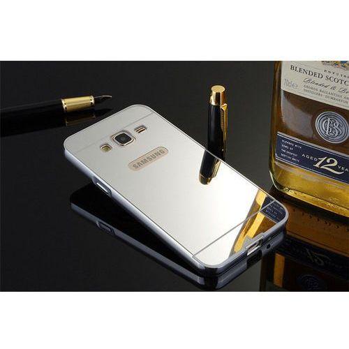 Mirror bumper  metal case srebrny   etui dla samsung galaxy j3 (2016) - srebrny