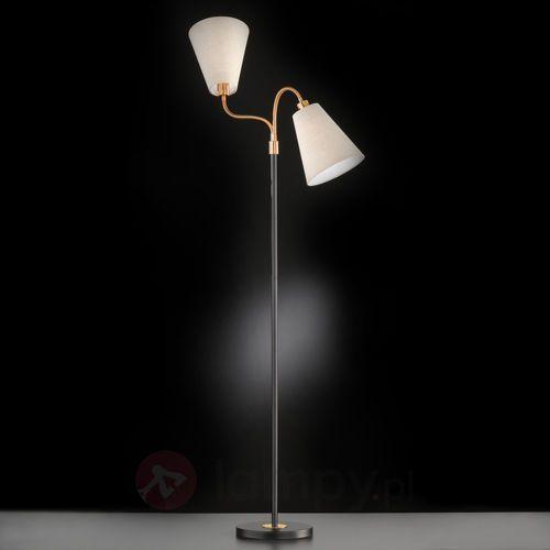 Honsel hopper lampa stojąca czarny, brązowy, 2-punktowe - klasyczny - obszar wewnętrzny - hopper - czas dostawy: od 2-4 dni roboczych