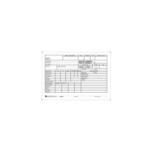 Firma krajewski Dzienny raport pracy sprzętu [pu/bm-7] (5907510473704)