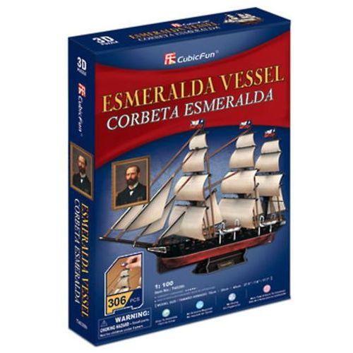 Puzzle 3d esmeralda vessel - 306 dílků marki Neuveden