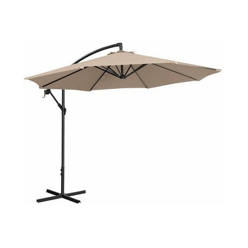 parasol ogrodowy wiszący - Ø300 cm - kremowy uni_umbrella_r300cr - 3 lata gwarancji marki Uniprodo