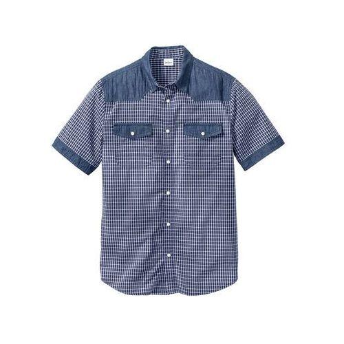 a5d241c0404d27 Koszula z materiału w optyce denimu, z k... Producent bonprix; Materiał  bawełna; Długość rękawa ...