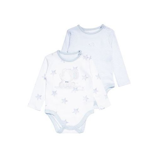 mothercare GRAPHIC STAR AND STRIPE 2 PACK Body light blue