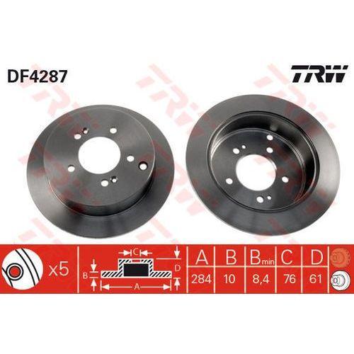 TARCZA HAM TRW DF4287 HYUNDAI SANTA FE 2.0, 2.0CRDI 4X4 01-, 2.4 16V 01-/ KIA SPORTAGE 2.0 16V 4WD 04- (3322937369744)