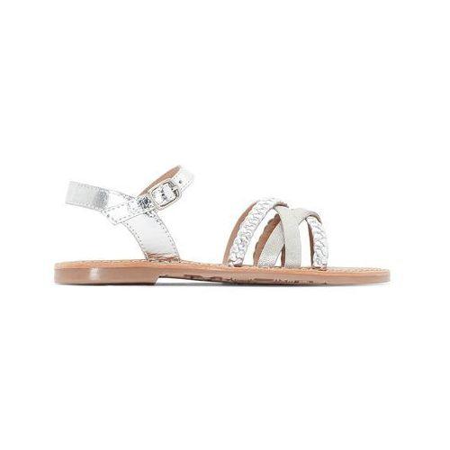 Sandały z paskami o metalicznym połysku 26-39