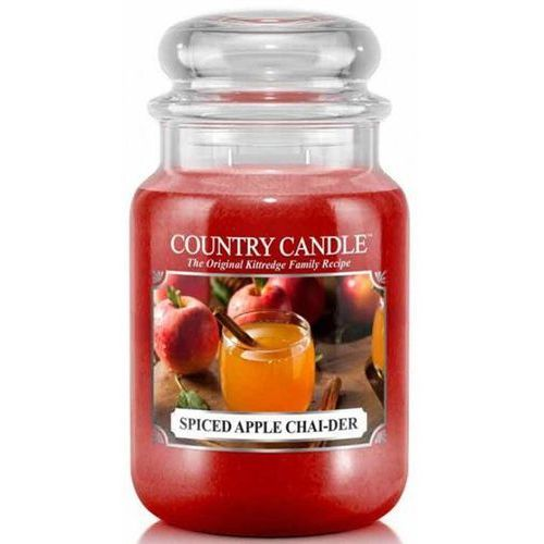 Country candle świeca zapachowa 652g spiced apple chai-der marki Kringle candle