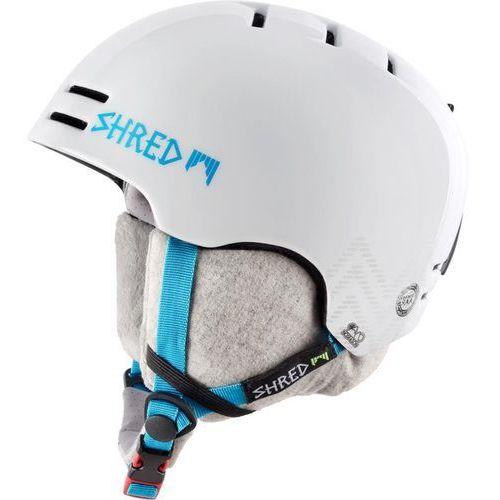 SHRED SLAM CAP HEY PRETTY GIRL WHITE - kask snowboard rolki rower R. S 52-55 cm