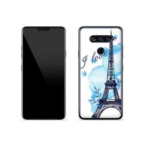 Lg v40 thinq - etui na telefon fantastic case - niebieska wieża eiffla marki Etuo fantastic case