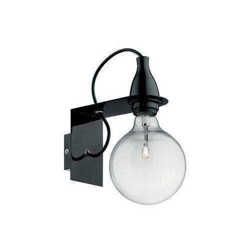 Ideal lux Minimal ap1 45214 kinkiet czarny 1x70w e27 l