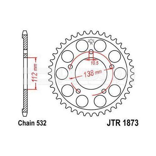Zębatka tylna stalowa jt 1873-48, 48z, rozmiar 532 2300906 yamaha yzf-r6 600 marki Jt sprockets