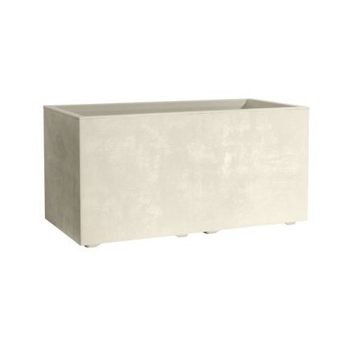 Skrzynka balkonowa 79 x 39 cm plastikowa perłowa MILENIUM
