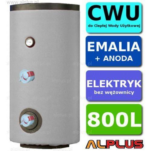 Elektryczny bojler 800L Lemet 6kW (2 grzałki po 3kW lub inne do wyboru) EMALIOWANY, Ogrzewacz wody elektryczny pionowy stojący, 800 litrów, 195cm x 95cm, Wysyłka gratis, L15.800EL
