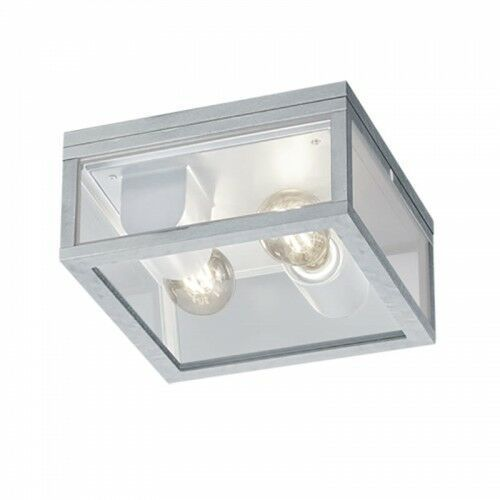 Trio Garonne 601860286 plafon zewnętrzny lampa sufitowa IP44 2x60W E27 cynkowy