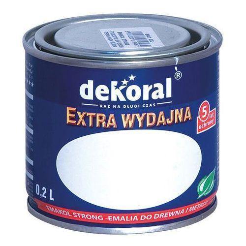 Emakol strong do drewna i metalu kolor biały emalia ftalowa modyfikowana do ogólnego stosowania 0,2l firmy marki Dekoral
