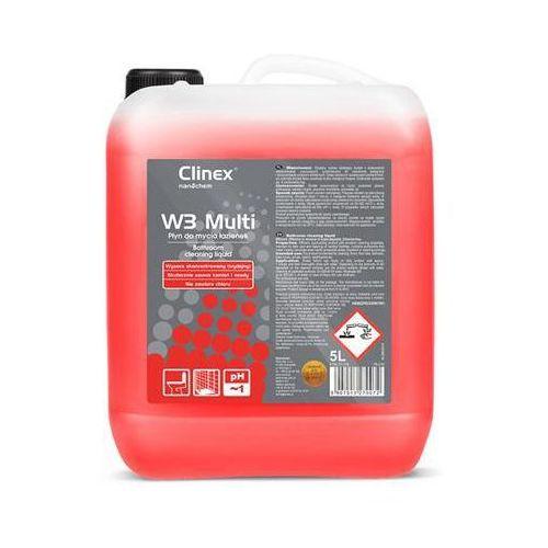 Preparat CLINEX W3 Multi 5L 77-119, do mycia sanitariatów i łazienek, skoncentrowany (5907513270072)