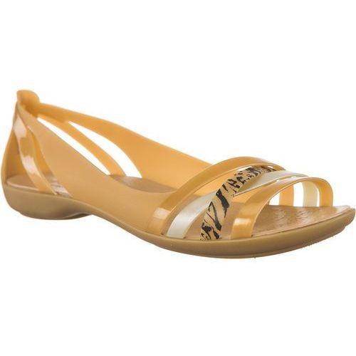 Sandały Crocs ISABELLA GRPH HUARACHE 2 FLAT DARK GOLD/GOLD DARK GOLD/GOLD