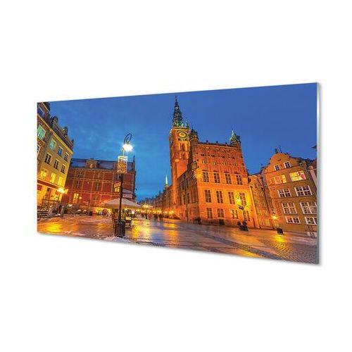 Obrazy akrylowe Gdańsk Stare miasto noc kościół