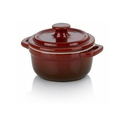 Kela Ceramiczne naczynie z pokrywką MALIN 10 x 8 cm, okrągłe (4025457118654)