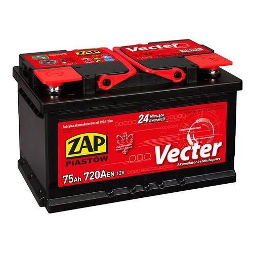 Zap Akumulator vecter 75ah 720a niska prawy plus