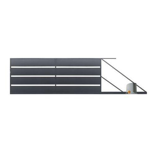 Brama przesuwna z automatem Polbram Steel Group Leda 4 x 1,58 m ocynk antracyt prawa (5901122311119)