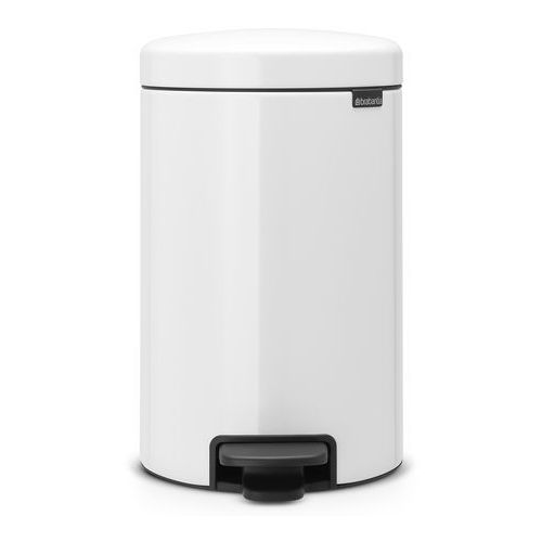 Brabantia Kosz łazienkowy newicon 12l biały ze stalowym wiaderkiem