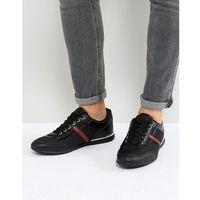 Versace Jeans Trainers In Black With Stripe Logo - Black, kolor czarny