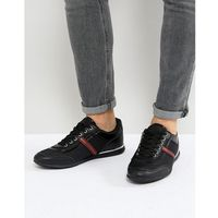 Versace jeans trainers in black with stripe logo - black