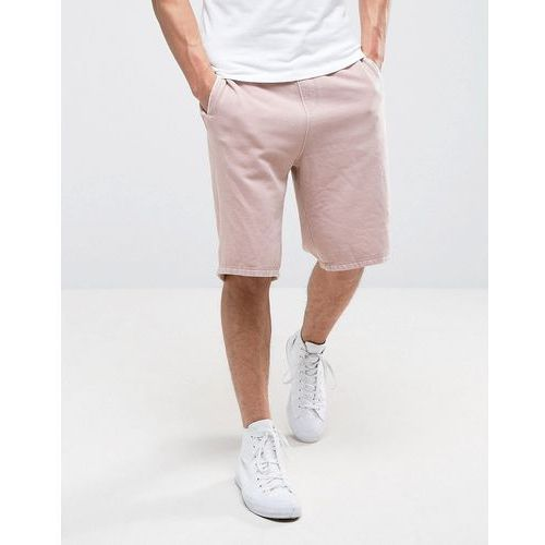 River island  jersey shorts with raw hem in dusty pink - pink