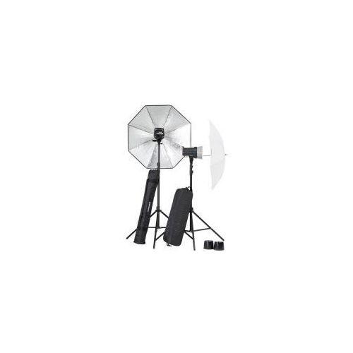 Zestaw lamp błyskowych  d-lite 2/2 rx parasole new, marki Elinchrom