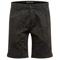 REPLAY Spodnie khaki / czarny, kolor zielony