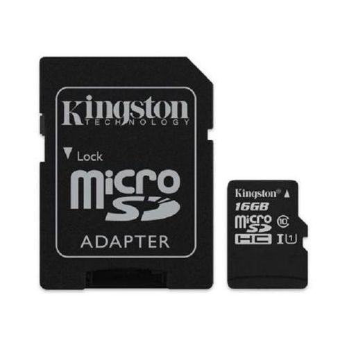 Karta KINGSTON Micro SecureDigital Class 10 (SDC10G2) 16GB + AdapterSD (0740617245974)