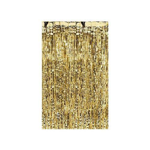 Kurtyna - zasłona na drzwi metaliczna złota - 2,4 m x 91 cm