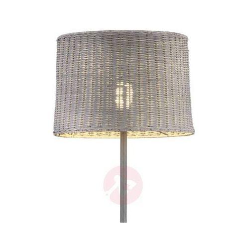 Trio -leuchten rotin lampa stojąca siwy, 1-punktowy - dworek - obszar wewnętrzny - rotin - czas dostawy: od 4-8 dni roboczych