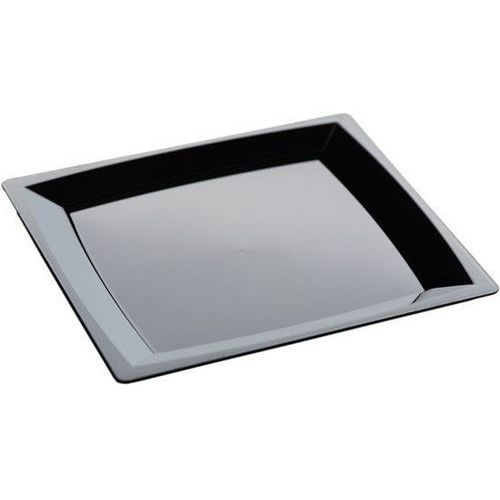 Talerz czarny obiadowy L | 210x210 mm | 192szt.