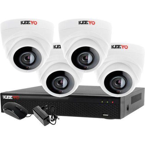 Monitoring Zestaw 4 kamerowy do szkoły przedszkola 4W1 4x Kamera LV-AL1M2FDPWH Rejestrator 4 kanałowy LV-XVR44N-II P2P