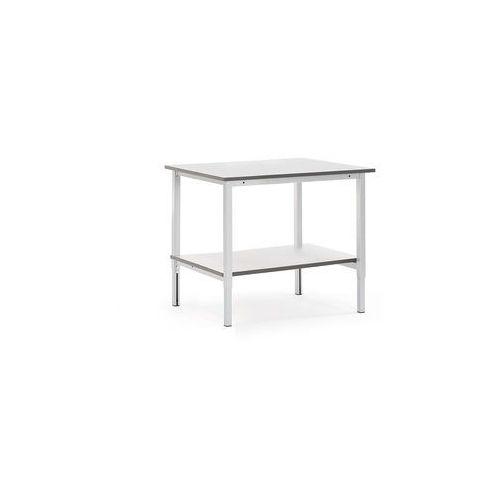 Stół roboczy motion, z ręczną regulacją wysokości, półka dolna, 1200x800 mm marki Aj produkty