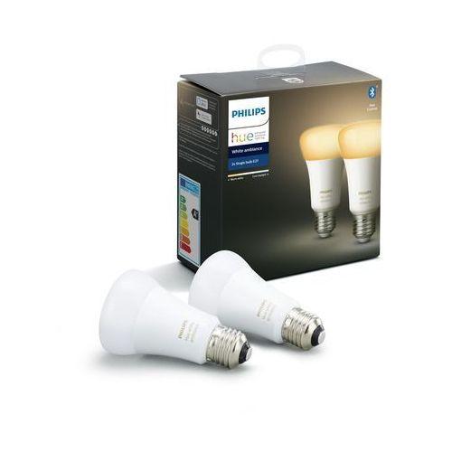 ZESTAW 2x LED Żarówka ściemnialna Philips HUE WHITE AMBIANCE E27/8,5W/230V, 8718699673369
