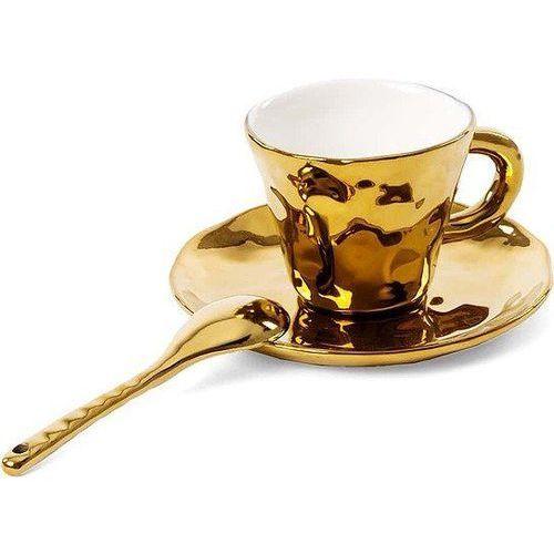 Seletti Filiżanka do kawy ze spodkiem i łyżeczką fingers (8008215099309)