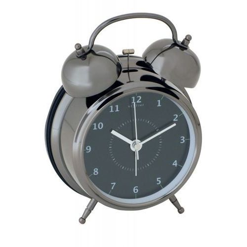 Budzik Wake Up black, 12,5 cm - 12,5 cm