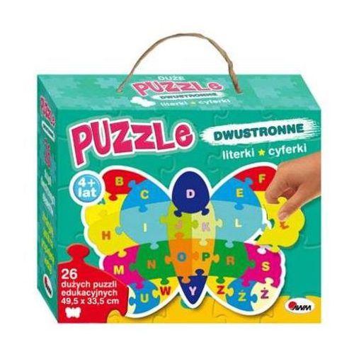 Puzzle dwustronne 26 Literki, cyferki. Motyl (9788380360457)