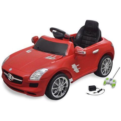 vidaXL Samochód elektryczny dla dzieci Czerwony Mercedes Benz SLS 6V + pilot