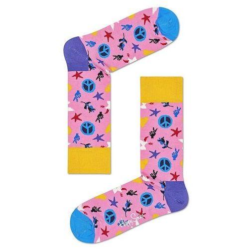 Happy Socks Peace & Love Skarpetki Różowy 36-40, kolor różowy