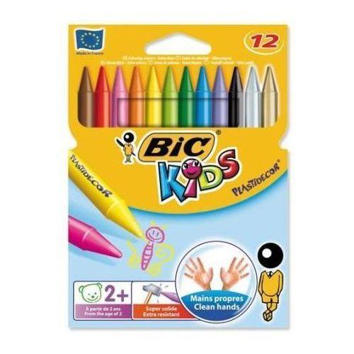 Kredki świecowe plastidecor 12 kolorów marki Bic