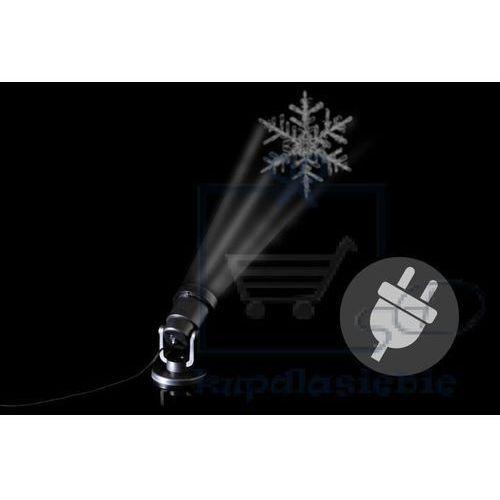 Zewnętrzny projektor LED - płatka śniegu - zasięg 15 - 20 m.