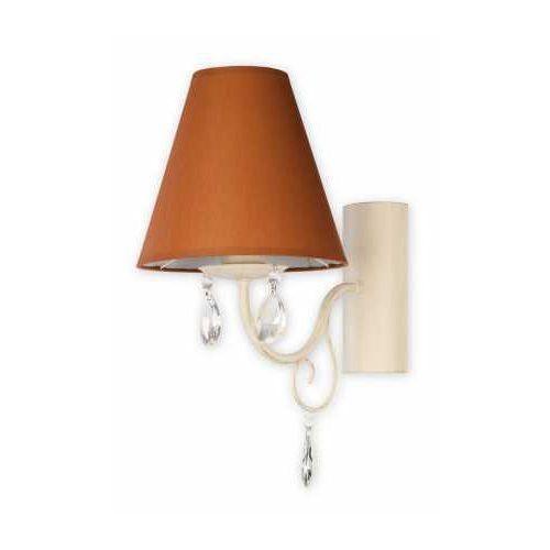 Lemir Velio Abażur O1960 AB BR kinkiet lampa ścienna 1x60W E27 antyczna biel / brąz